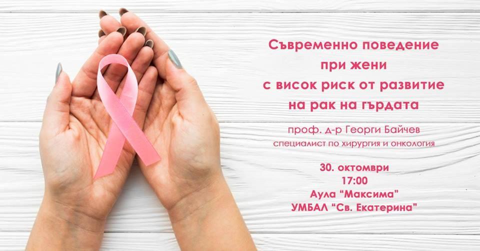 Поведение при жени с висок риск от рак на гърдата