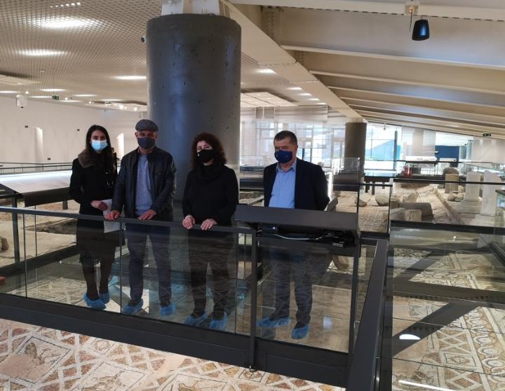 Фирма дари нанопрепарат срещу плесени за мозайките на Епископската базилика