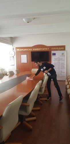 Дезинфекцираха с уникален нанопрепарат Медицински университет - Пловдив