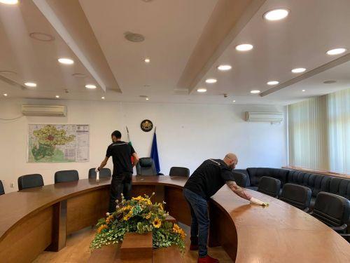Дезинфекцираха Областна администрация-Пловдив за година напред с нанопрепарат